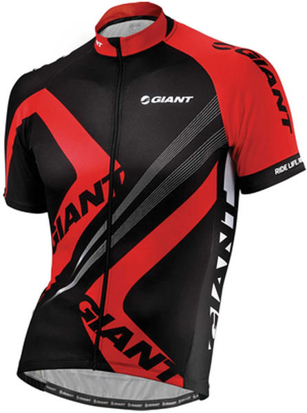Giant Enhanced Short Sleeve Jersey Color: Black/Red