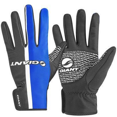 Giant Race Day Long Finger Gloves Color: Blue/White/Black