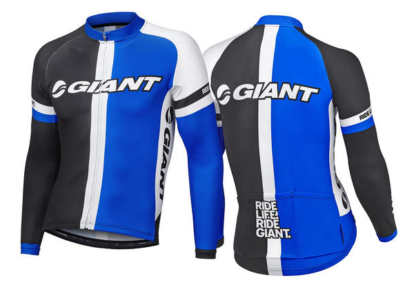 Giant Race Day Long Sleeve Jersey Color: Blue/Black