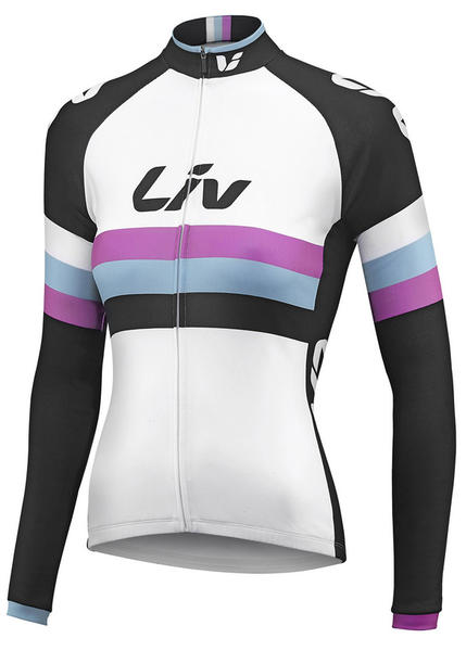 Liv Race Day Long Sleeve Jersey - Women's Color: White/Black