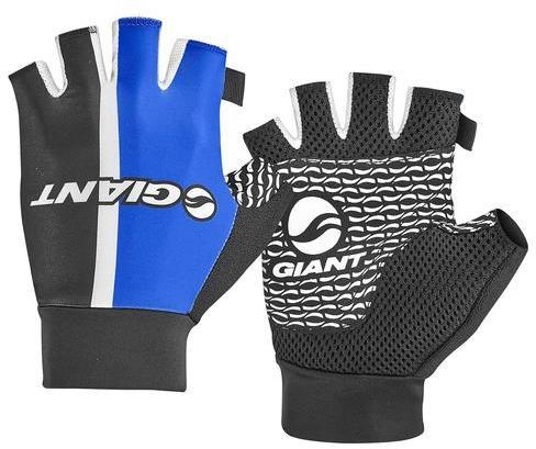 Giant Race Day Short Finger Gloves Color: Blue/White/Black