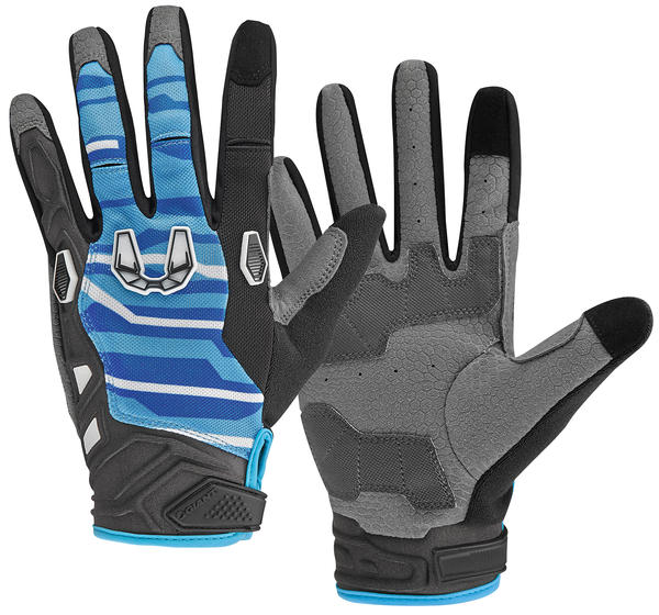 Giant All Mountain Long Finger Glove Color: Black/Blue