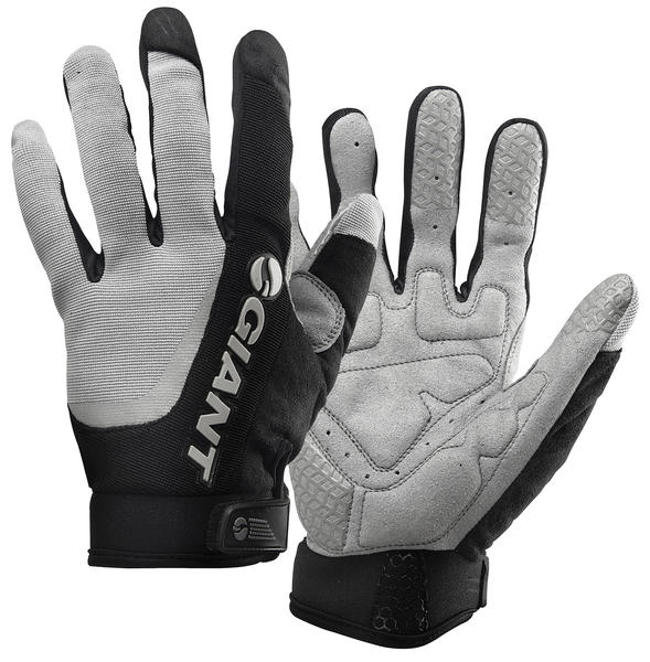 Giant Horizon Long Finger Gloves Color: Gray