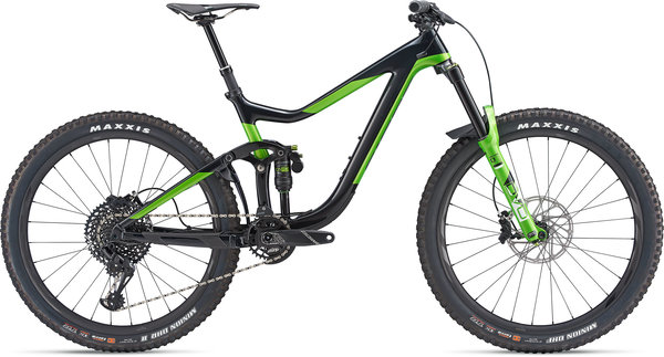 Giant Reign Advanced 1 Color: Carbon/Metallic Green
