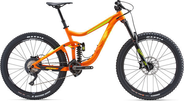 Giant Reign SX (c19) Color: Orange/Neon Yellow