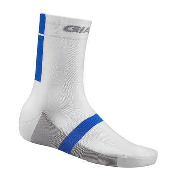 Giant Streak Quarter Socks Color: White/Blue