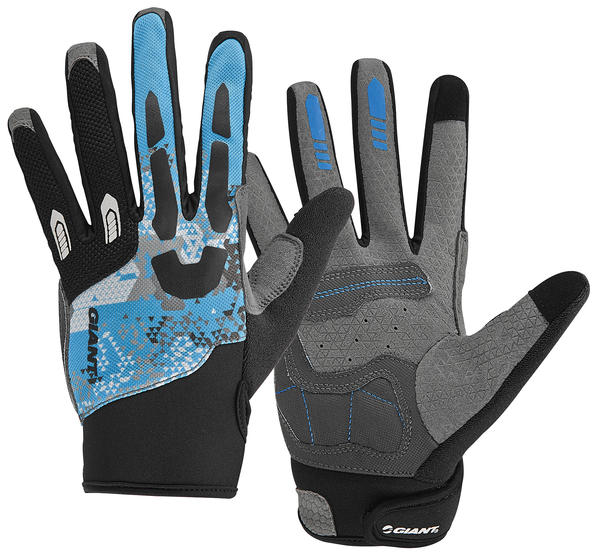 Giant Realm Long Finger Gloves Color: Black/Blue