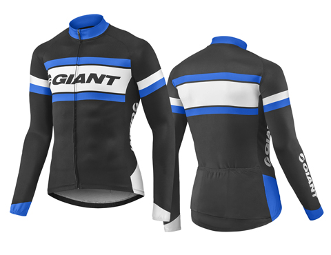 Giant Rival L/S Jersey Color: Black/Blue