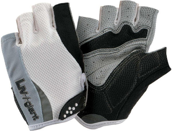 Giant Liv/Giant Road Pro Gel Short Finger Gloves Color: White