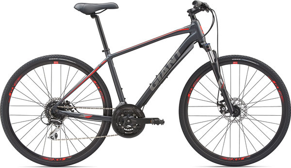Giant Roam 3 Disc (i27) Color: Metallic Black/Pure Red/Charcoal