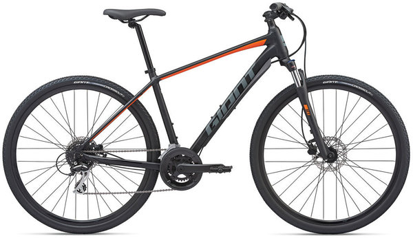 Giant Roam 3 Disc Color: Gloss Black/Orange