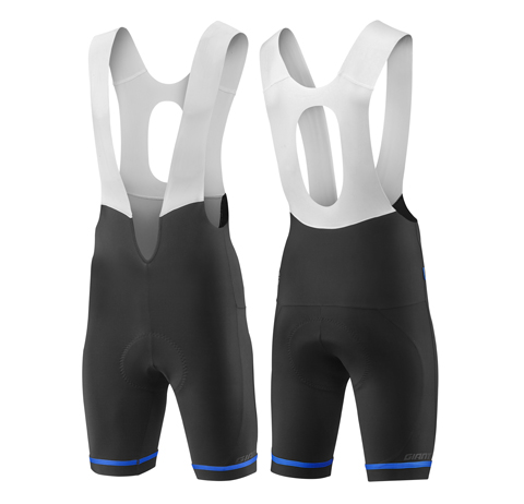 Giant Signature Bib Short Color: Black/Blue