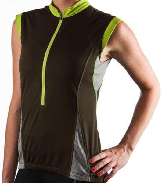Giant Sola Sport Sleeveless Jersey Color: Black/Green