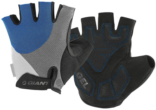 Giant Streak Gel Short Finger Gloves Color: Blue