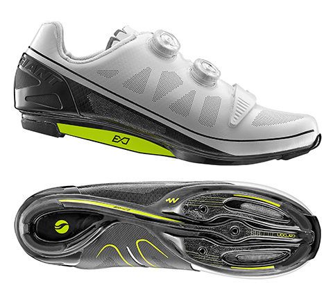 Giant Surge V2 Carbon Sole MES Road Shoe Color: White/Black