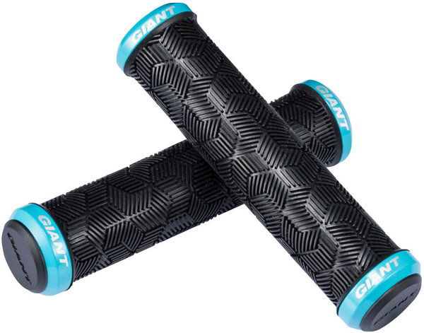 Giant Tactal Double Lock-On Grips Color: Black/Giant Blue