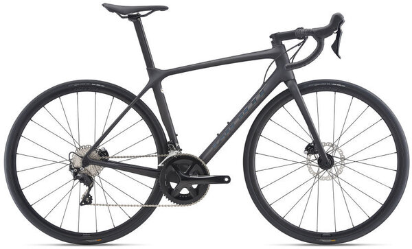 Giant TCR Advanced 2 Disc Pro Compact Color: Matte Carbon/Gloss Rainbow Black