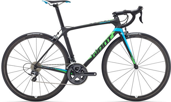 Giant TCR Advanced Pro 1 Color: Matte Composite/Blue/Green