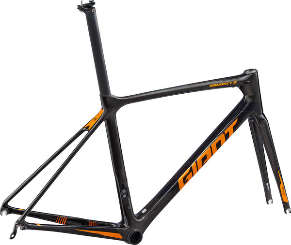 Giant TCR Advanced Pro Frameset Color: Charcoal/Black/Metallic Orange