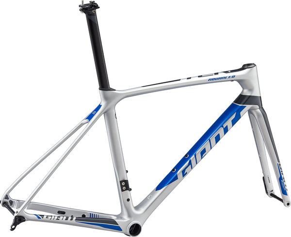 Giant TCR Advanced Pro Disc Frameset Color: Silver/Met Black/Electric Blue