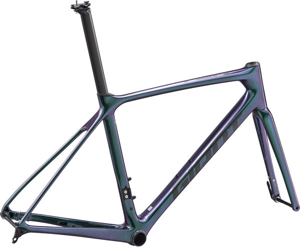 Giant TCR Advanced Pro Disc Frameset Color | Size: Chameleon Galaxy/Matte Black | X-Small