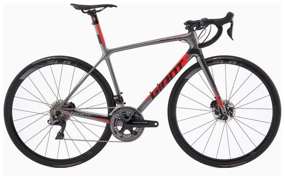 Giant TCR Advanced SL 0 Disc - DA Di2 Color: Charcoal/Neon Red/Black