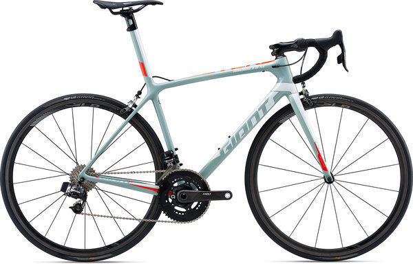 Giant TCR Advanced SL 0 - RED Color: Grey/Neon Red/White