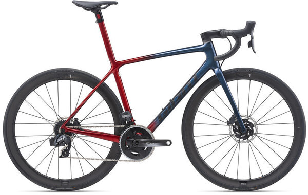 Giant TCR Advanced SL 1 Disc Color: Gloss Cosmos Navy/Gloss Metallic Red/Matte Black