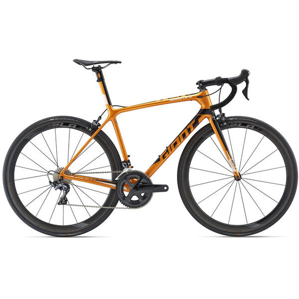Giant TCR Advanced SL 2 Color: Metallic Orange/Metallic Black/White