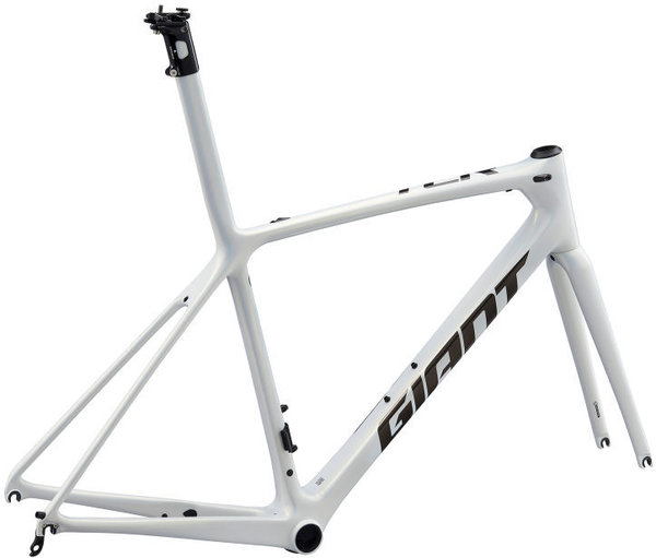 Giant TCR Advanced SL Frameset Color: Rainbow White/Chrome