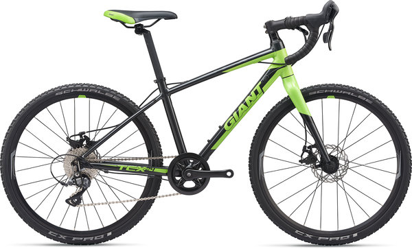 Giant TCX Espoir 24 Color: Gun Metal Black/Apple Green