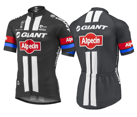 Giant Team Giant-Alpecin Replica S/S Jersey Color: Black/White/Red