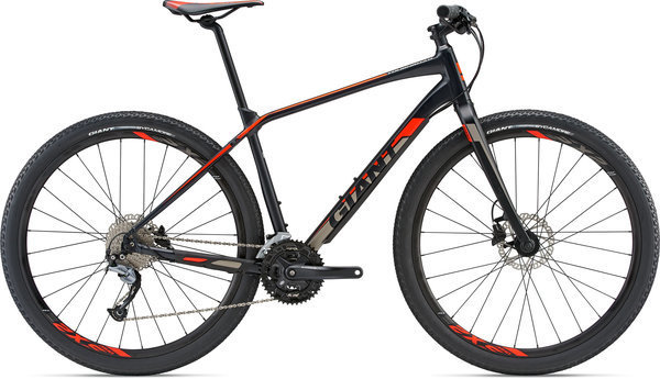 Giant ToughRoad SLR 2 Color: Matte Black/Neon Red/Charcoal