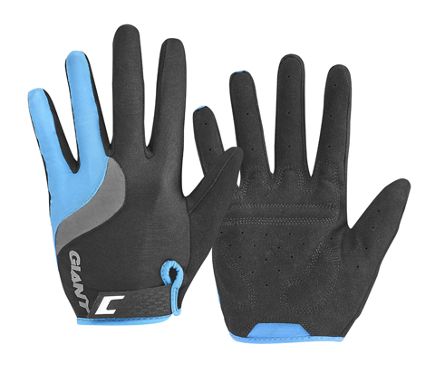 Giant Tour Long Finger Gloves Color: Black/Blue