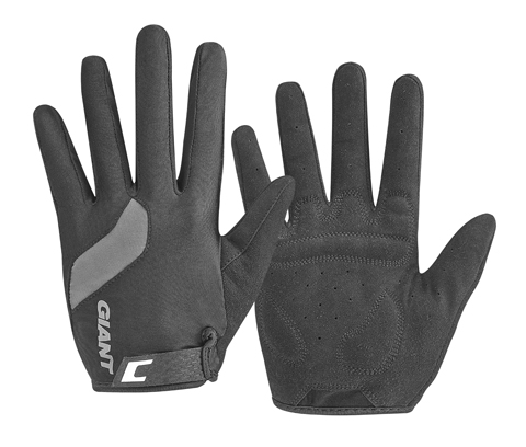 Giant Tour Long Finger Gloves Color: Black/Black