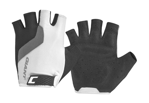 Giant Tour Short Finger Gloves Color: White/Black