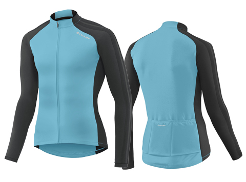 Giant Tour Thermal L/S Jersey Color: Blue/Black