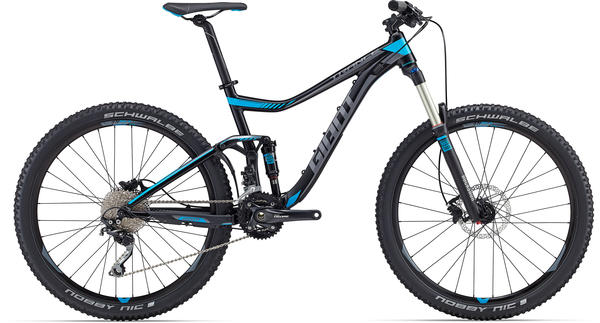 Giant Trance 27.5 3 Color: Satin Black/Blue