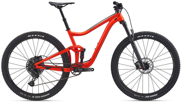 Giant Trance 29 3 Color: Gloss Neon Red/Matte Metallic