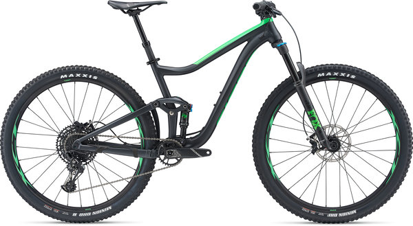 Giant Trance 29 2 (h27) Color: Metallic Black/Flash Green