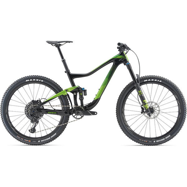 Giant Trance Advanced 1 Color: Carbon/Metallic Green