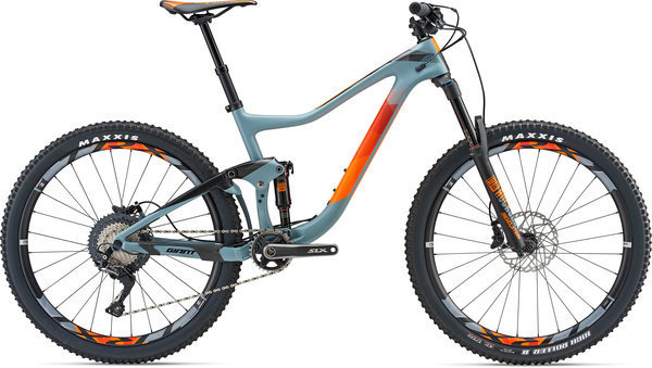 Giant Trance Advanced 2 Color: Matte Grey/Neon Orange
