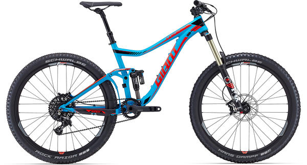 Giant Trance SX 27.5 Color: Matte Blue/Red