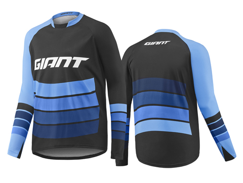 Giant Transfer L/S Jersey Color: Black/Blue