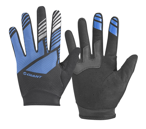 Giant Transfer Long Finger Gloves Color: Blue/Black