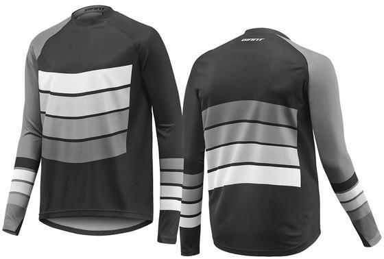 Giant Transfer Long Sleeve Jersey Color: Black/Grey