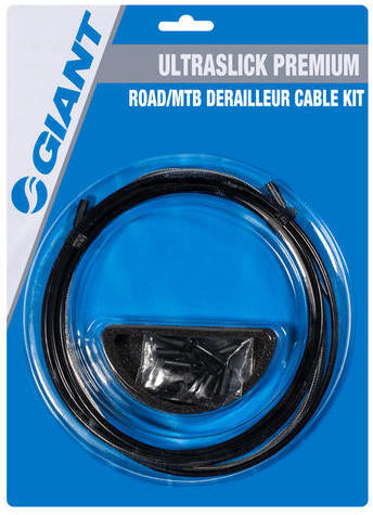 Giant Ultraslick Premium Derailleur Cable Kit Color: Black