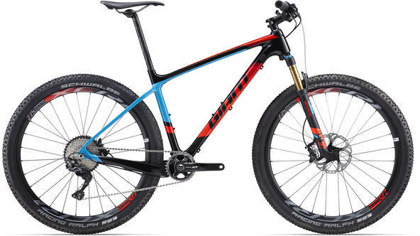 Giant XTC Advanced 1 Color: Composite/Blue-Neon Red
