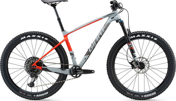 Giant XTC Advanced 27.5+ 1 Color: Matte Grey/Neon Red