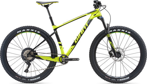 Giant XTC Advanced 27.5+ 2 Color: Satin Neon Yellow/Black